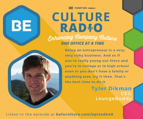 2ecf7f54a680 EP48  From a Simple Project to Building a Viable Business - The Story of  LoungeBuddy with Tyler Dikman - BE Furniture