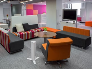 Modern collaborative office furniture systems