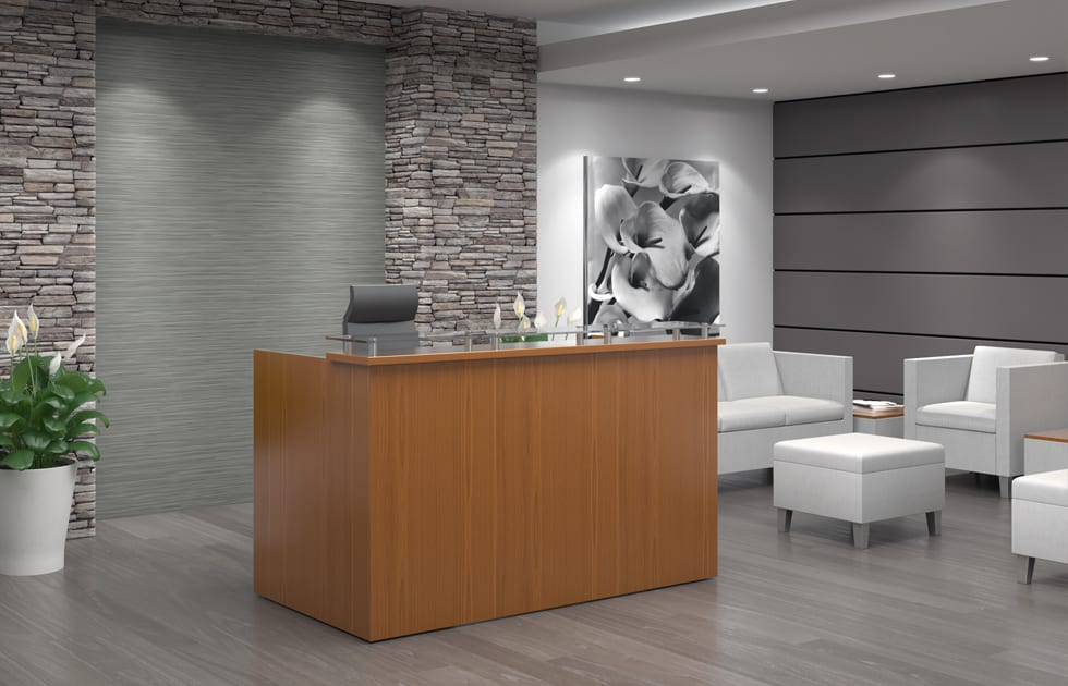 modern office reception desks