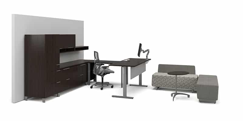 """Height adjustable- private office use.<br> <br> <a href=""""https://www.befurniture.com/contact/"""">MORE INFO</a><p style=""""text-align: right;"""">973.828.0541</p>"""