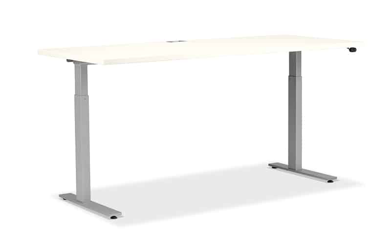 """Free standing height adjustable desk- offers a slim and sleek profile. <br> <br> <a href=""""https://www.befurniture.com/contact/"""">MORE INFO</a><p style=""""text-align: right;"""">973.828.0541</p>"""