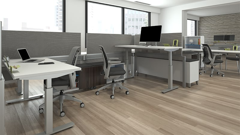 ergonomic workstation desks